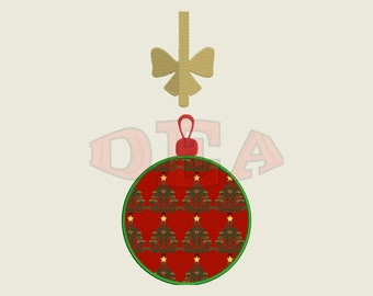 Christmas Bulb (Applique) - Instant Download Machine Embroidery Design