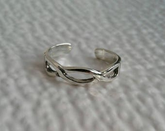 Toe Ring, Solid Sterling Silver Ajustable Celtic Weave Toe Ring, Body Jewelry, Celtic Jewelry