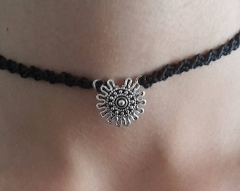 Micro macrame Choker / necklace, Anklet / chain