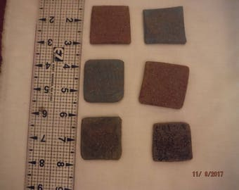 DreamscapesByCyn--DESTASH lot of 6 small ceramic tiles