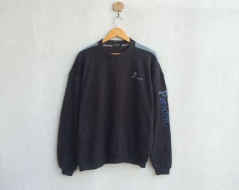 Vintage 90's Paradiso Sweatshirt Embroidery Small Logo Spellout