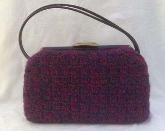 1950's Crochet Covered Handbag
