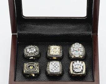 Custom Replica  Pittsburgh Steelers Super Bowl Ring: 1974 1975 1978 1979 2005 2008..Solid Copper