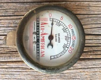 """Vintage """"All American"""" Pressure Cooker Meter"""