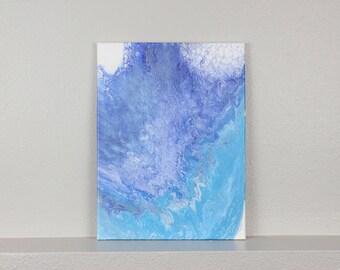 """Acrylic Fluid Painting """"Trance"""" -blue- 12""""x16"""""""