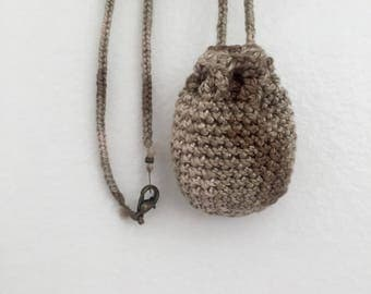 Pouch Necklace // Small // Sand