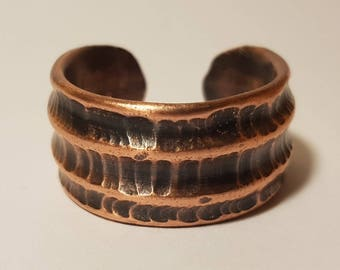 Hammered Copper Fusion Ring