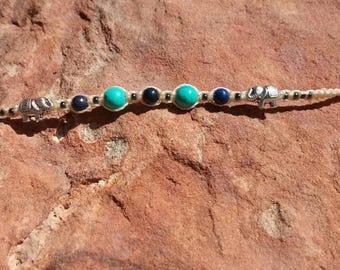 Personalised bracelet - turquoise - BlueElefant-Armand Lapis turquoise bracelet