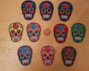 skull iron on patches