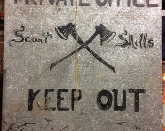 Scout Skills Metal Sign Hand-Painted