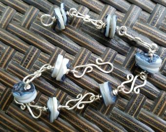 Blue Shell Bracelet LARGE