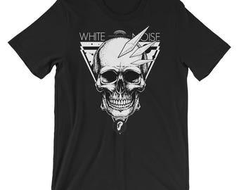 White Noise Skull Short-Sleeve Unisex T-Shirt