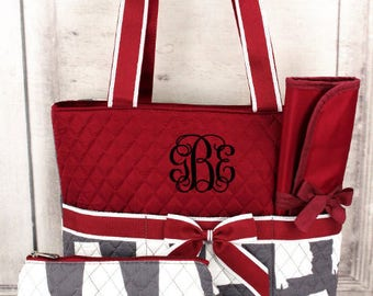 Personalized Alabama Diaper Bag Set