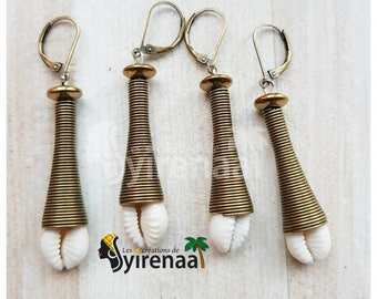 Earrings cowrie cones