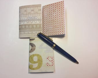 """Set of 3 Nano (micro) Traveler's Notebook Inserts """"Ruling Numbers"""""""