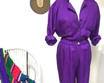 """The """"Royalty"""" purple vintage jumpsuit  Size 5/6"""