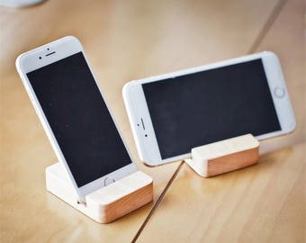 Android/iPhone/Tablet Wooden Desk Stand/holder