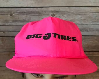 Vintage Big O Tires Neon Pink Hat