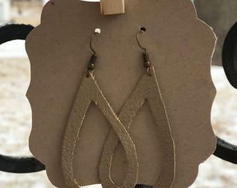 Faux Leather Earring