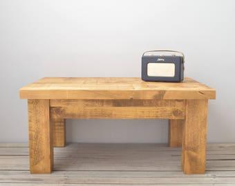 Rustic Chunky Wood Coffee Table