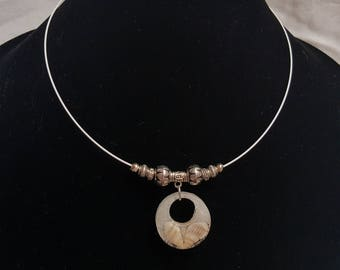 Sand and Shell Choker Necklace