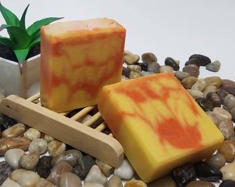 Pineapple Mango Soap, Handmade Soap, Vegan Soap, Pineapple Soap, Mango Soap, Soap Bar, Artisan Soap, Gifts for Her, Gifts for Him, 4.5 oz