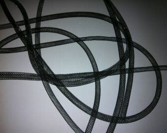 Black FishNet tubular, 0.5 mm diameter