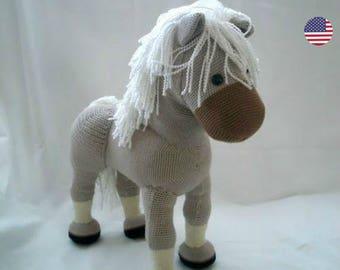 PDF pattern Flicka the Horse, English pdf crochet pattern, amigurumi horse,  crochet horse pattern, handmade horse pattern