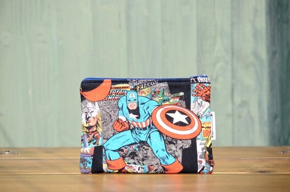 Captain America Zipped Pouch