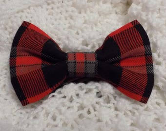 Red Plaid Bow Tie - Boy's bow tie, Bowtie, Bow tie for boy, Young man bow tie, Dress up accessory, Tie for boy, Infant bow tie