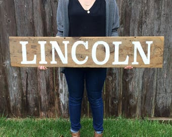 CUSTOM Name Wood Sign, First Name, Rustic Wood Sign, Farmhouse Style Sign