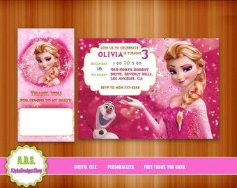 FROZEN INVITATION, frozen birthday, frozen party, frozen, invitation, elsa, frozen invite, frozen printable, birthday, disney frozen,