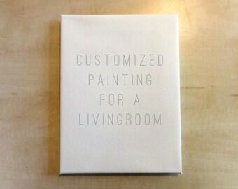 Customizable Canvas Painting