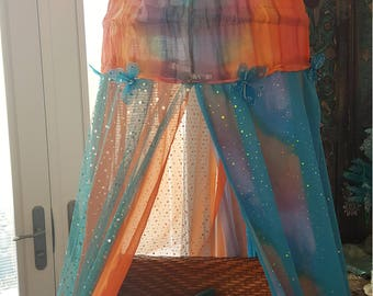 Bohemian Canopy for Bed or Chair, Meditation Tent, Reading Nook, Glamping, Playing, Garden, Backdrop, Dorm, Study, Crib
