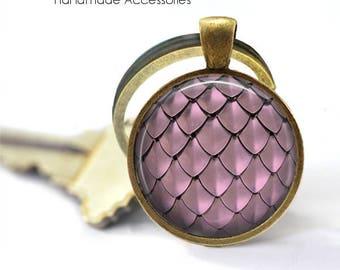 MERMAID SCALES Key Ring • Pink Scales • Dragon Scales • Pink Mermaid Scales • Fish Scales • Gift Under 20 • Made in Australia (K429)