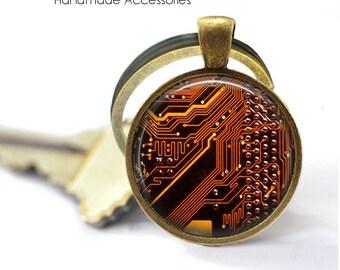 CIRCUIT BOARD Key Ring • Computer Motherboard • Electrician • Engineer • Geek • Nerd • Gift Under 20 • Made in Australia (K480)