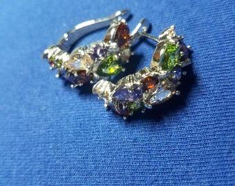 Multi Gemstones set in 925 Sterling Silver