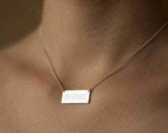 Personalized silver rectangle