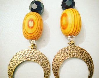 Wooden Tribal Earrings