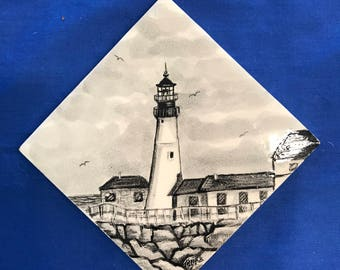 Portland Head Light Decorative Tile