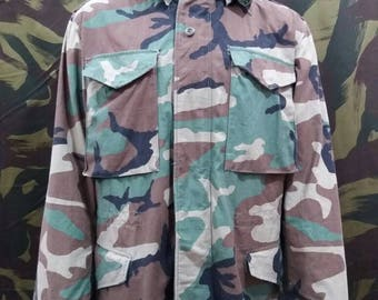 Coat Cold Weather Woodland Camouflage M65