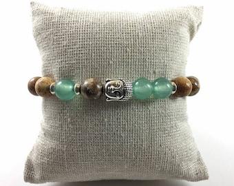 Bodhi : Natural Stone Buddha Bracelet