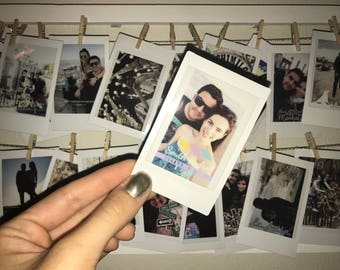 Instax polaroid prints. Custom instant photos.