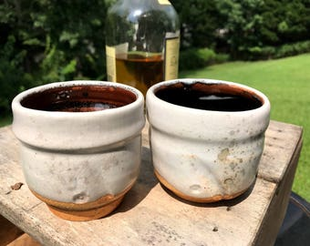 Shino glazed whiskey/tea sippers
