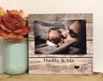 Daddy & me frame, personalized dad, personalized frame, dad frame