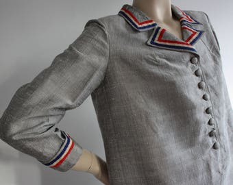 RARE Vintage 1960s Mod Scooter Shift Dress UK 14