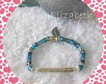 Leaf me alone gift|for|her beaded bracelet, beaded stretch bracelet. Gift for women