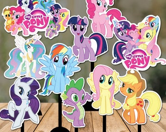 My Little Pony Centerpiece Double Sided - 10 My Little Pony Centerpieces - My Little Pony Party Printables Decoration - Instant Download
