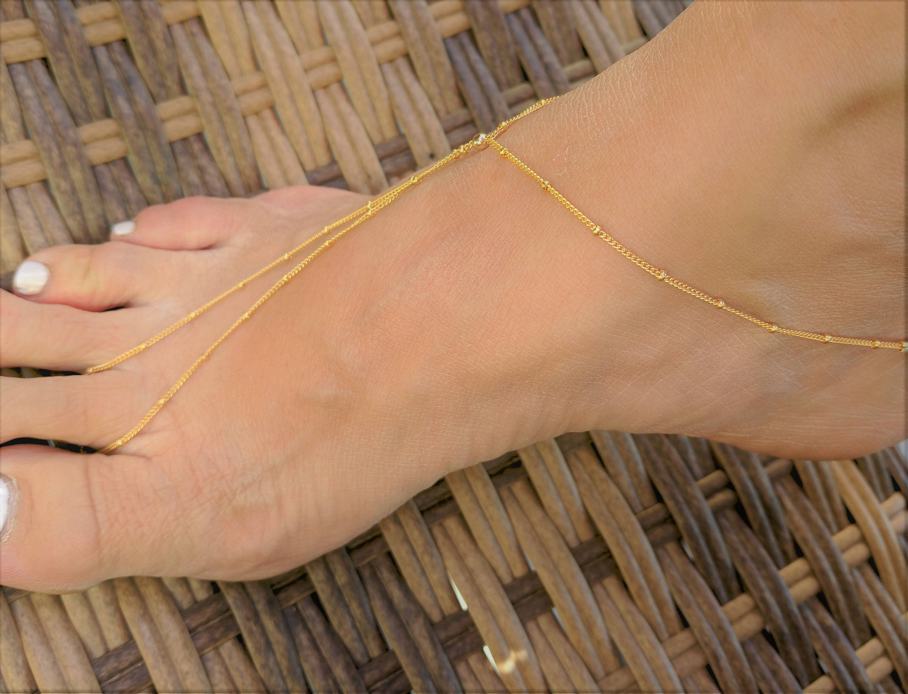 women gold caymancode anklet design ball single for indian anklets