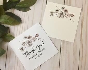 Custom Wedding Favor - Thank You Cards  - Favor